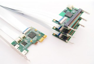 Flexible x1 PCI Express to 3 MiniPCI Splitter