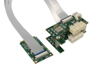Flexible MiniPCI Express to two x1 PCI Express Splitter