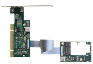 Flexible 32-bit PCI to MiniPCI Express Adapter