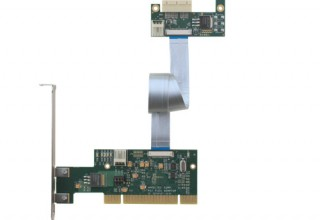 Flexible 32-bit PCI to x1 PCI Express Adapter