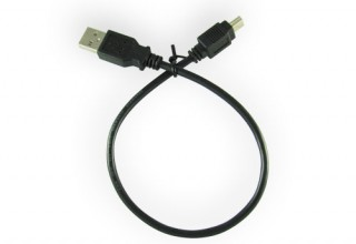 USB Male A to Male Mini B Cable (length 12″)