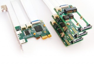 Flexible x1 PCI Express to 3 MiniPCI Express Splitter