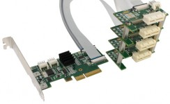 Flexible x4 PCI Express 4-Way Splitter