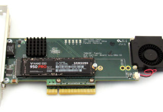 PCI Express Gen 3 Carrier Board for 2 M.2 SSD modules